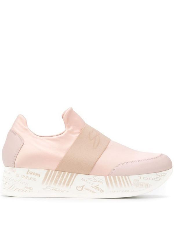 Tosca Blu logo strap sneakers in pink