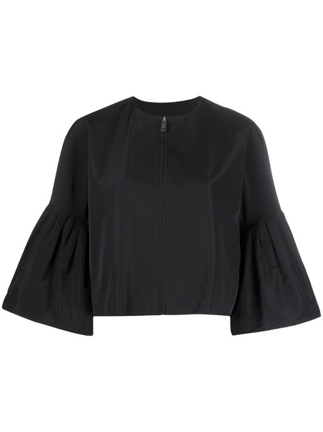 Givenchy puff sleeves zipped jacket in black