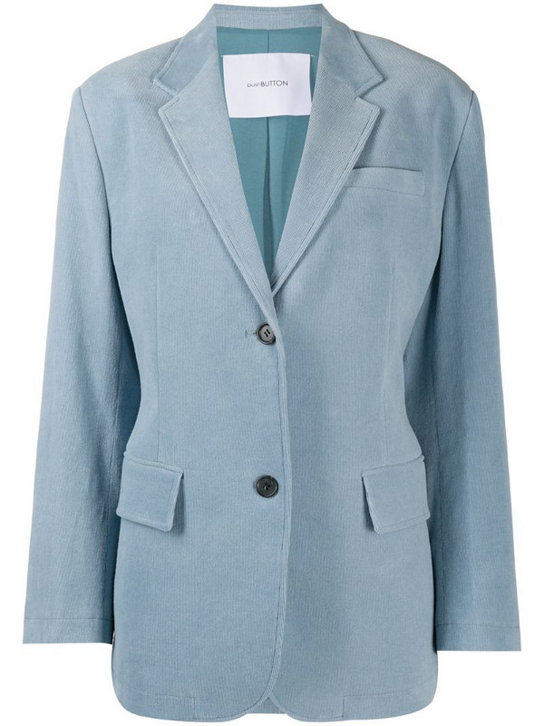 pushBUTTON single-breasted regular-fit blazer in blue