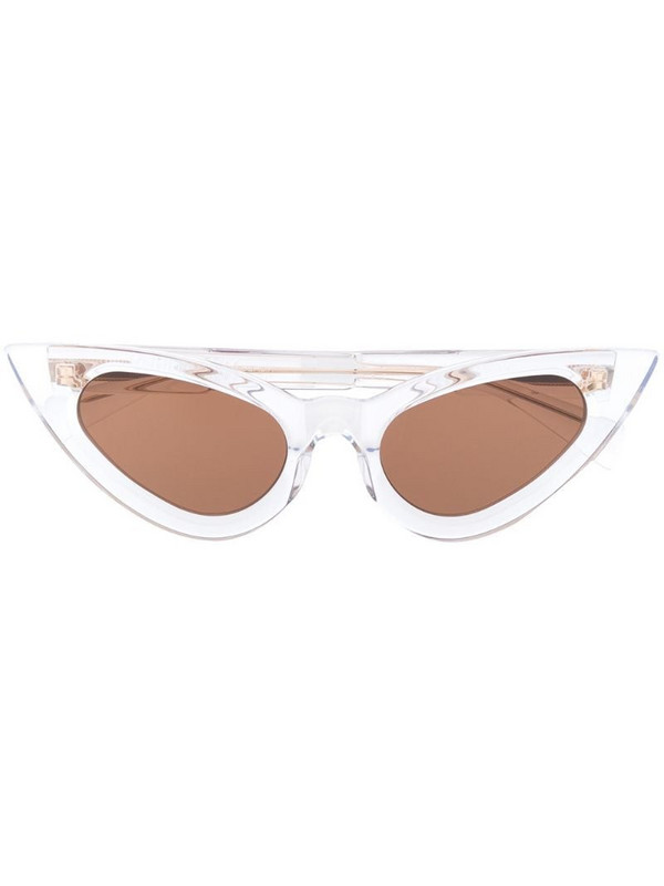 Kuboraum cats eye sunglasses in white