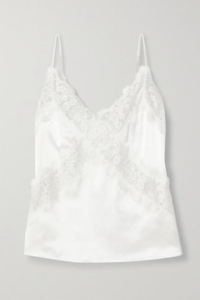 Cami NYC - The Dane Lace-paneled Silk-charmeuse Camisole - White