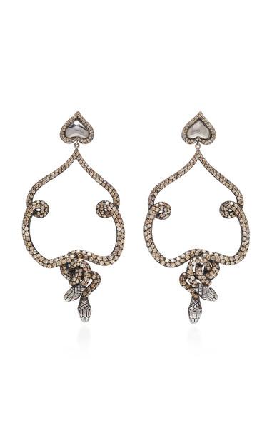 Sylvie Corbelin Black Snake Earrings