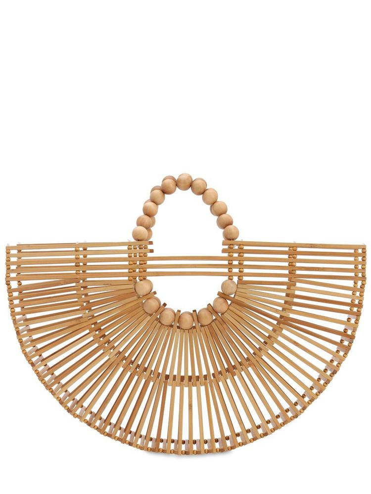 CULT GAIA Fan Ark Bamboo Top Handle Bag in natural
