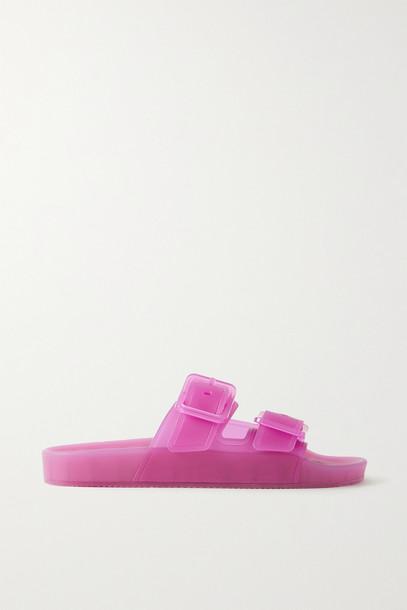 BALENCIAGA - Mallorca Rubber Slides - Pink