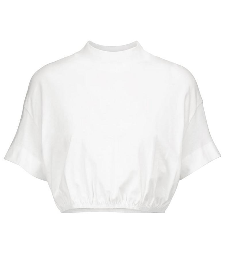 Alo Yoga Kick It cropped cotton T-shirt in white
