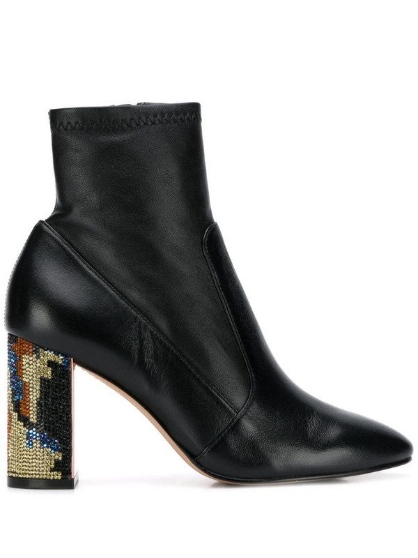Sophia Webster embellished-heel ankle boots in black