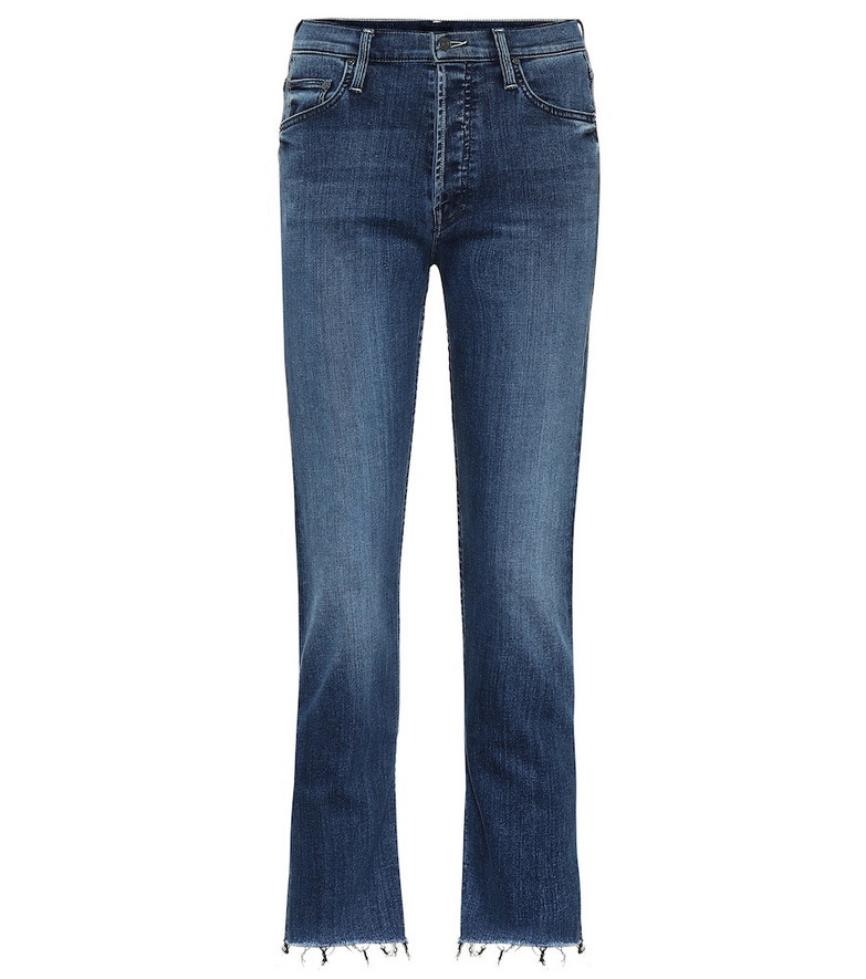 Mother The Tomcat high-rise straight jeans in blue