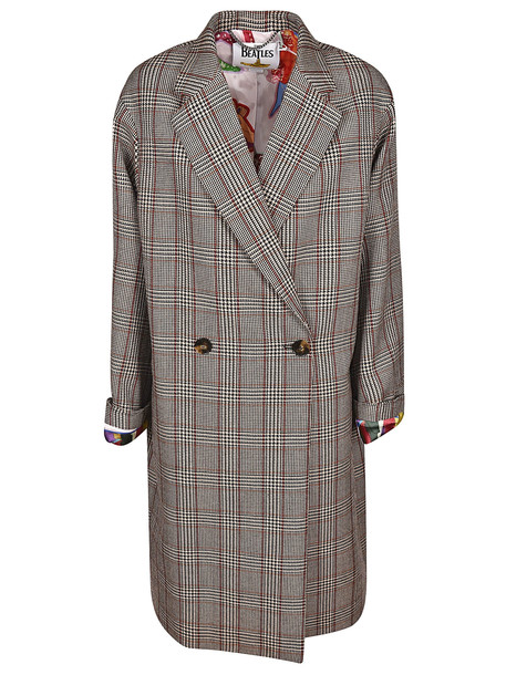 Stella McCartney Prince Of Whales Checked Coat in black