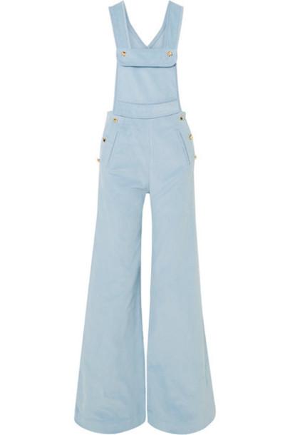 Anna Mason - Bay Cotton-corduroy Overalls - Blue