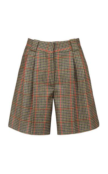 Blazé Milano Drum Beat Fell Wool Shorts in multi