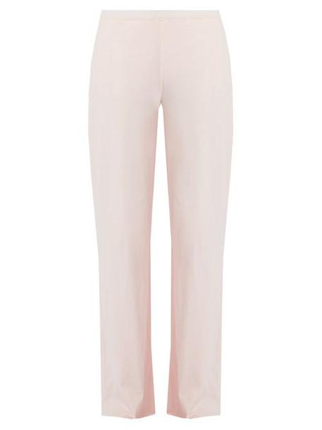 Skin - Double Layer Cotton Pyjama Trousers - Womens - Light Pink