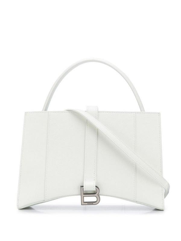 Balenciaga Hourglass XS tote bag in white