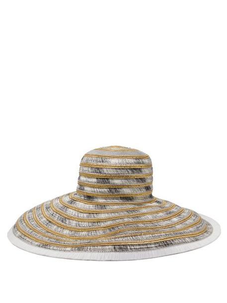 Missoni Mare - Woven Metallic Straw Hat - Womens - Silver