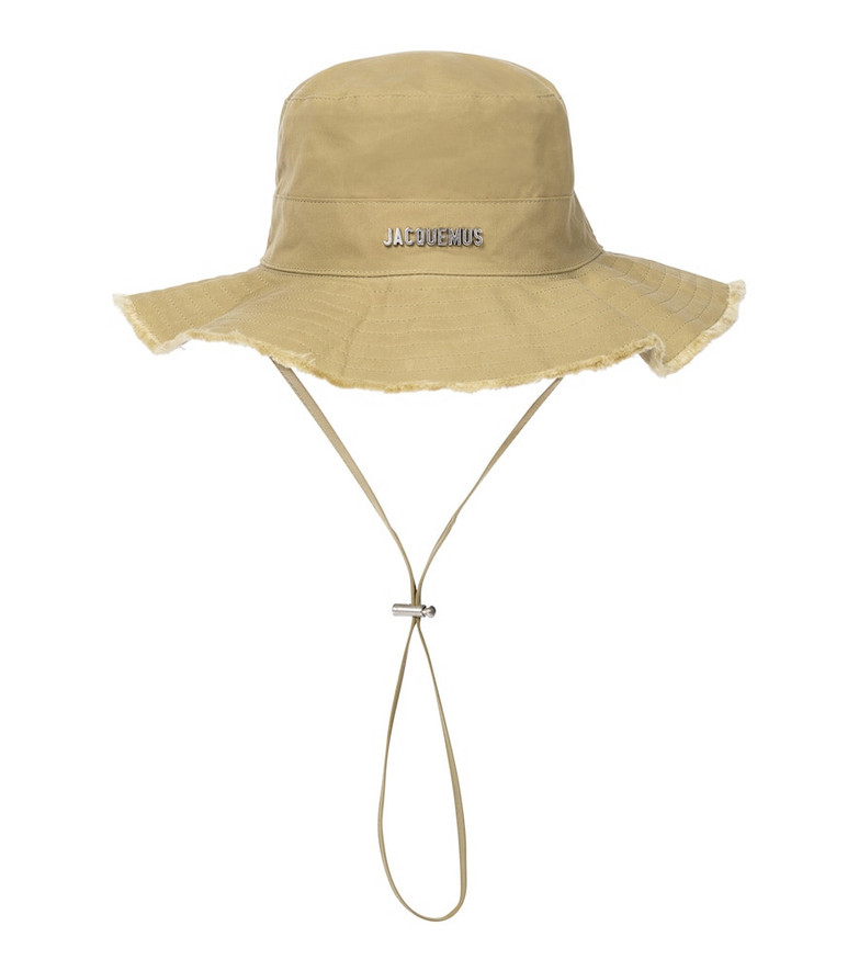 Jacquemus Le Bob Artichaut cotton bucket hat in green