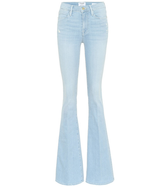 Frame Le High Flare high-rise jeans in blue