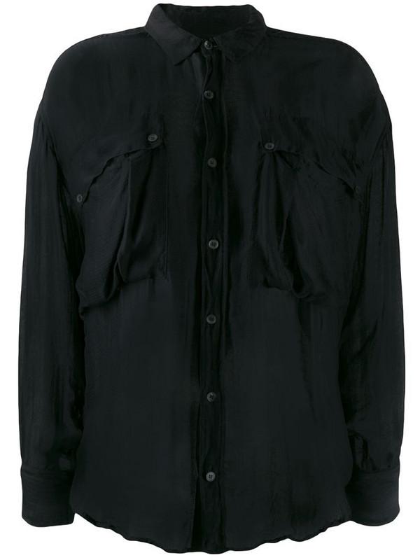 Katharine Hamnett London Alex shirt in black