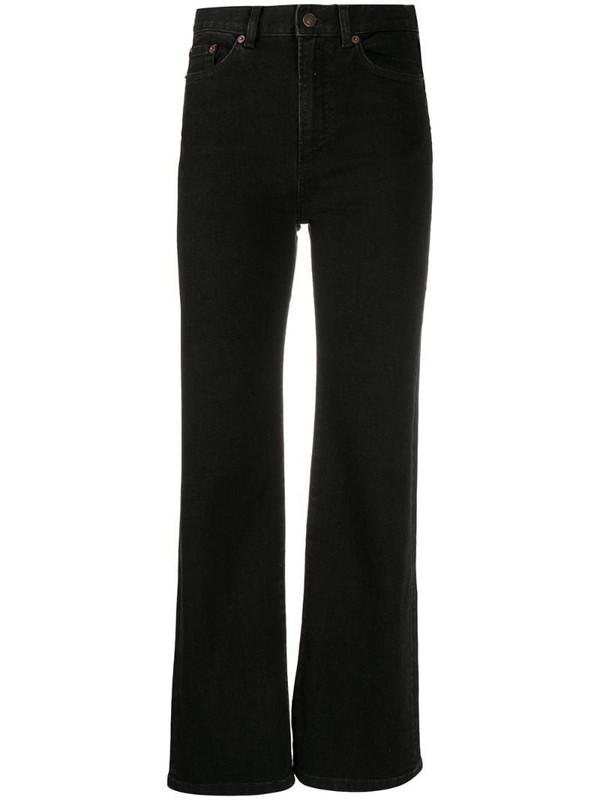Jeanerica wide-leg cropped jeans in black