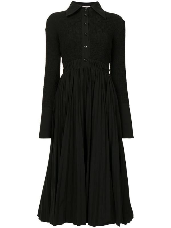 Rachel Gilbert Ravi long-sleeved shirt dress in black