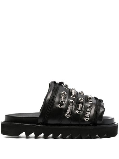Toga Pulla ring-detail sandals in black