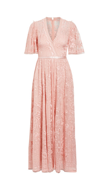 Needle & Thread Trudy Belle Ankle Length Gown in pink