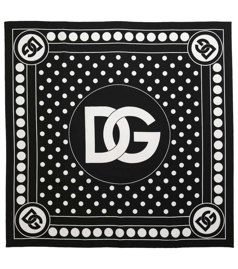 Dolce & Gabbana Silk jacquard scarf in black