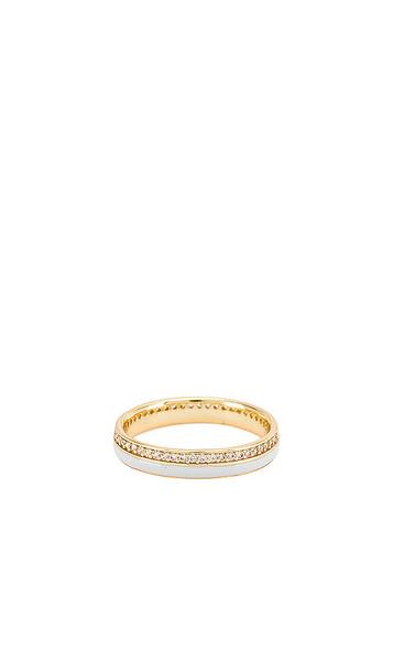 Natalie B Jewelry Flynn Enamel Stacking Ring in Metallic Gold