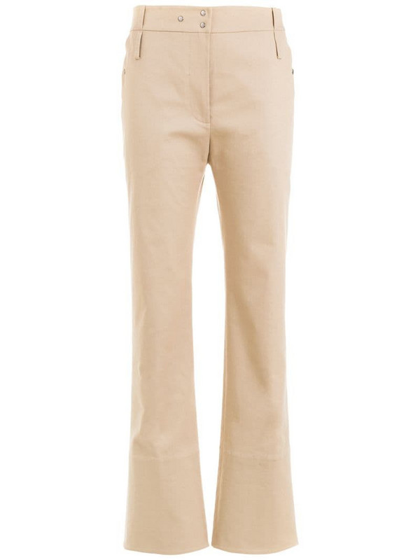 Gloria Coelho tailored cropped trousers in neutrals