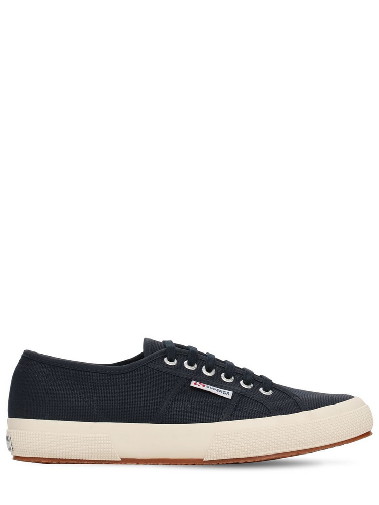 SUPERGA Logo Canvas Sneakers in navy