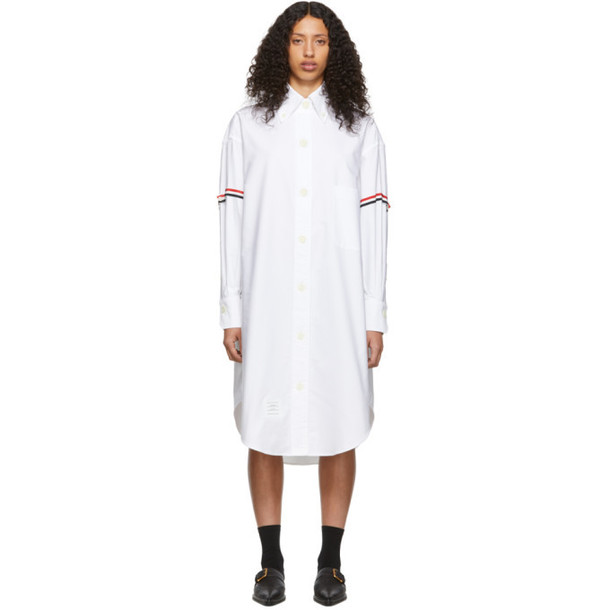 Thom Browne White Armband 200% Shirt Dress