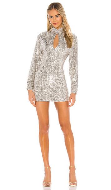 Ronny Kobo Lauper Dress in Metallic Silver