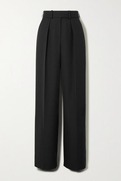 Alexandre Vauthier - Wool-gabardine Wide-leg Pants - Black