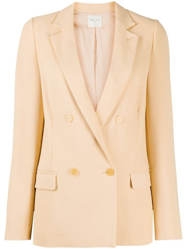 Forte Forte double-breasted fitted blazer in neutrals