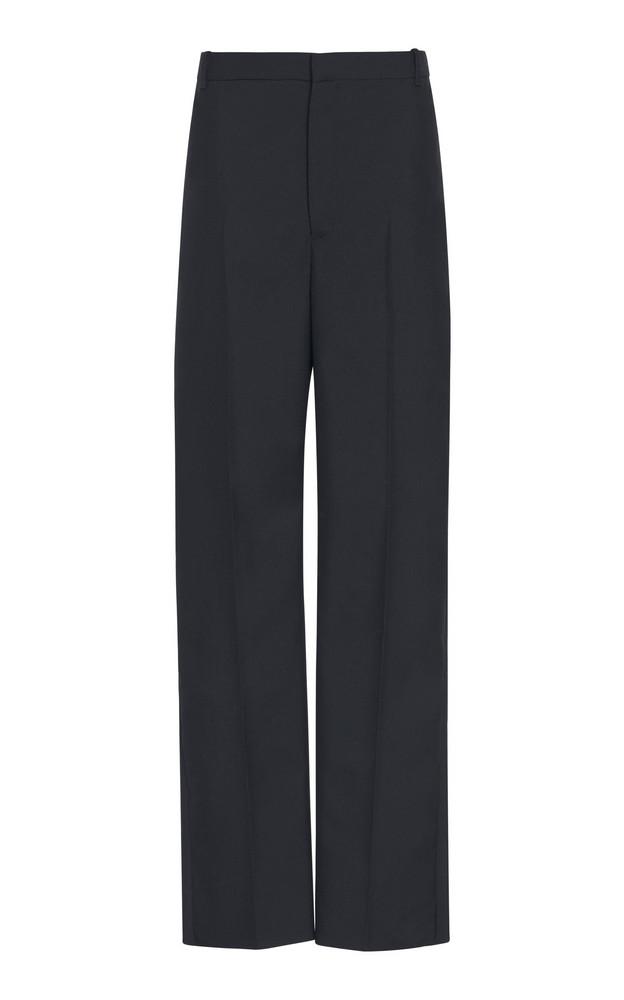 Balenciaga Twill Straight-Leg Uniform Trousers in black