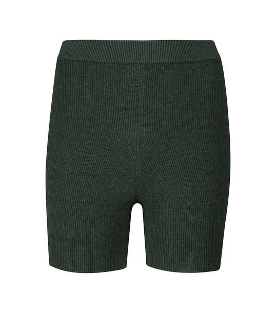 Live The Process Arch ribbed-knit shorts in green