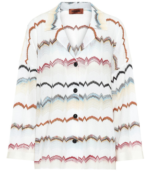 Missoni Zigzag cotton-blend shirt in white