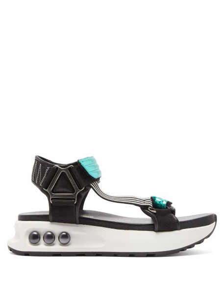 Nicholas Kirkwood - Nkp3 Faux Pearl Inlay Leather Flatform Sandals - Womens - Green