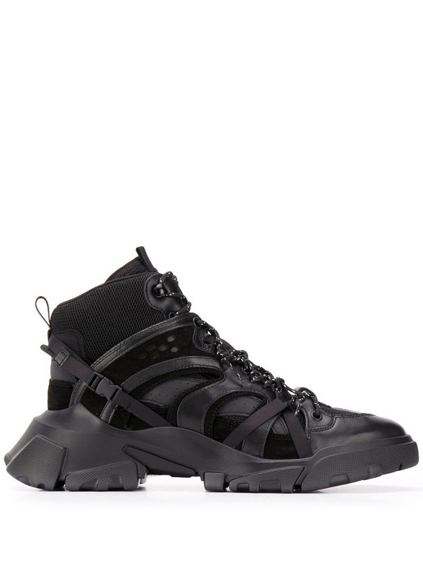 MCQ Orbyt high-top trainers in black