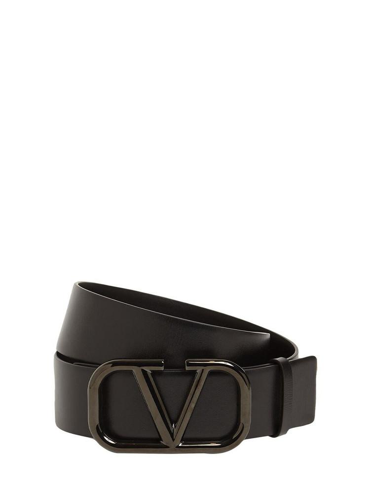 VALENTINO GARAVANI 40mm Vlogo Signature Leather Belt in black