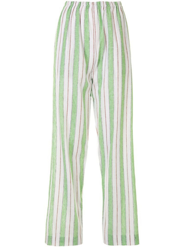Bambah striped straight-leg trousers in green