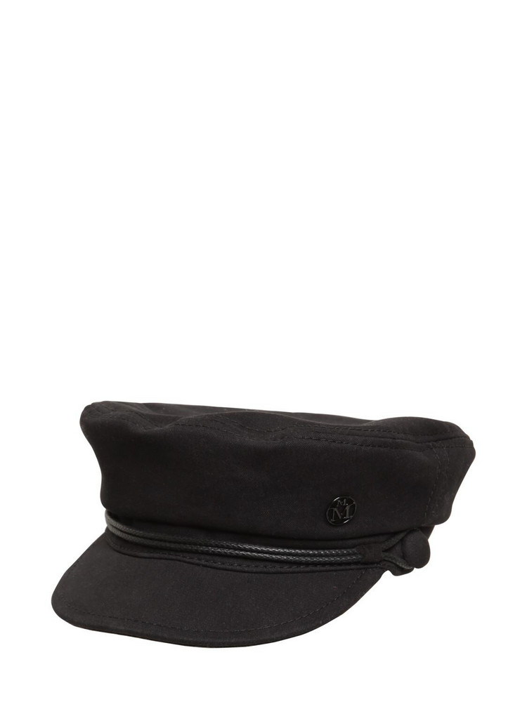 MAISON MICHEL New Abby Cotton Hat in black