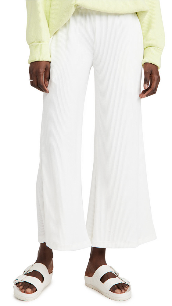ASKK NY Ribbed Knit Pants in white