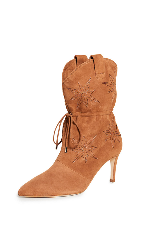 Chloe Gosselin Thelma Embroidered Pointed Boots in tan