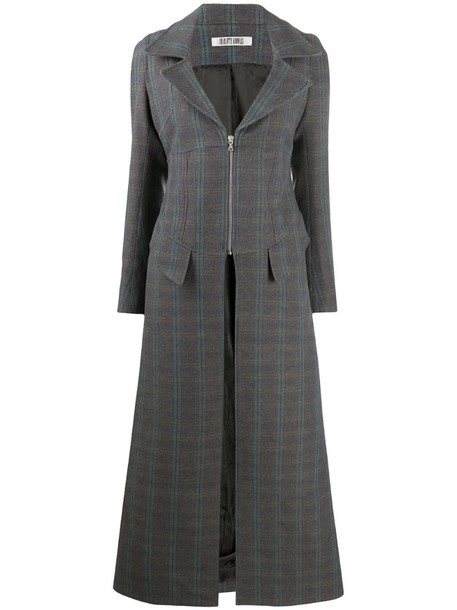 Charlotte Knowles zip-corseted duster coat in grey