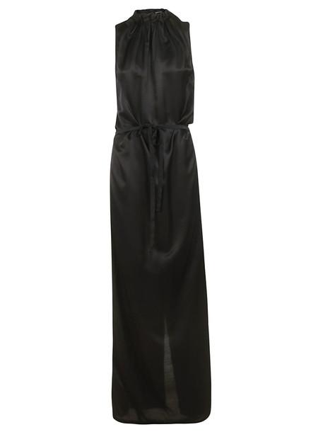 Ann Demeulemeester Long Sleeveless Dress in black
