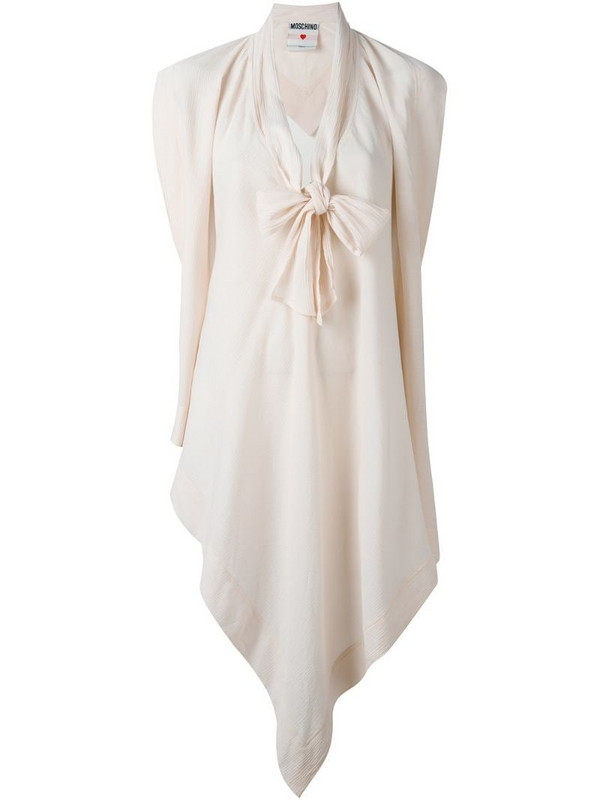 Moschino Pre-Owned pussy bow blouse cape in pink