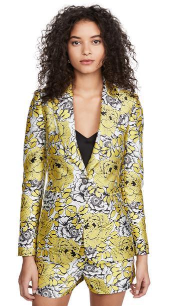 alice + olivia alice + olivia Macey Notch Collar Fitted Blazer in multi