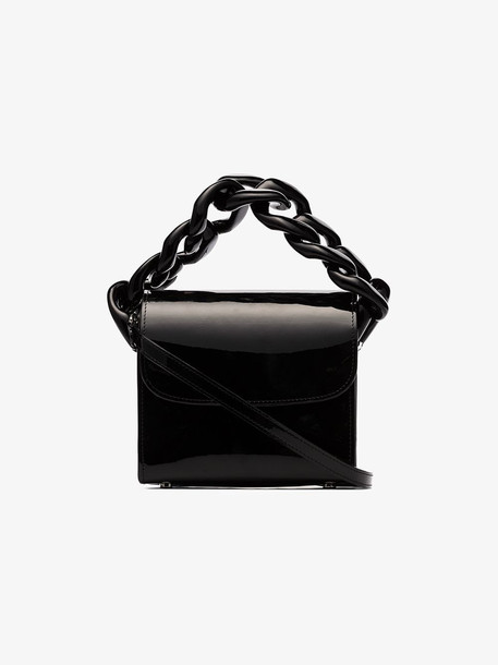 Marques'Almeida Black Patent Leather Chain Handle Shoulder Bag