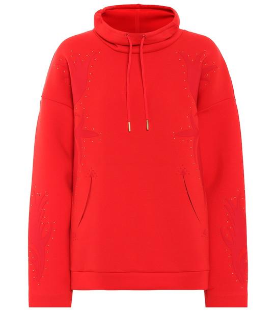 Nike Oversized cotton-blend sweatshirt in red
