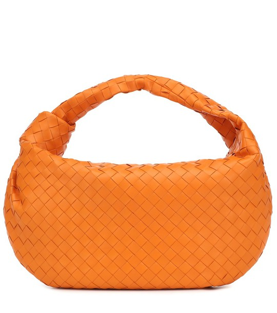 Bottega Veneta BV Jodie leather shoulder bag in orange