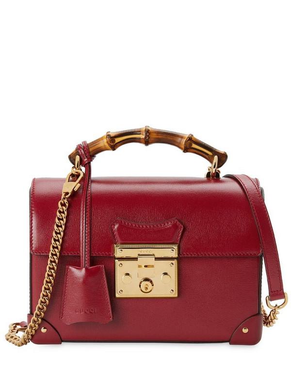 Gucci small Padlock shoulder bag in red